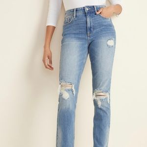Old Navy High-Waist Power Slim Straight Jeans